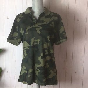 NWOT Guess Camo Polo Shirt Size Small